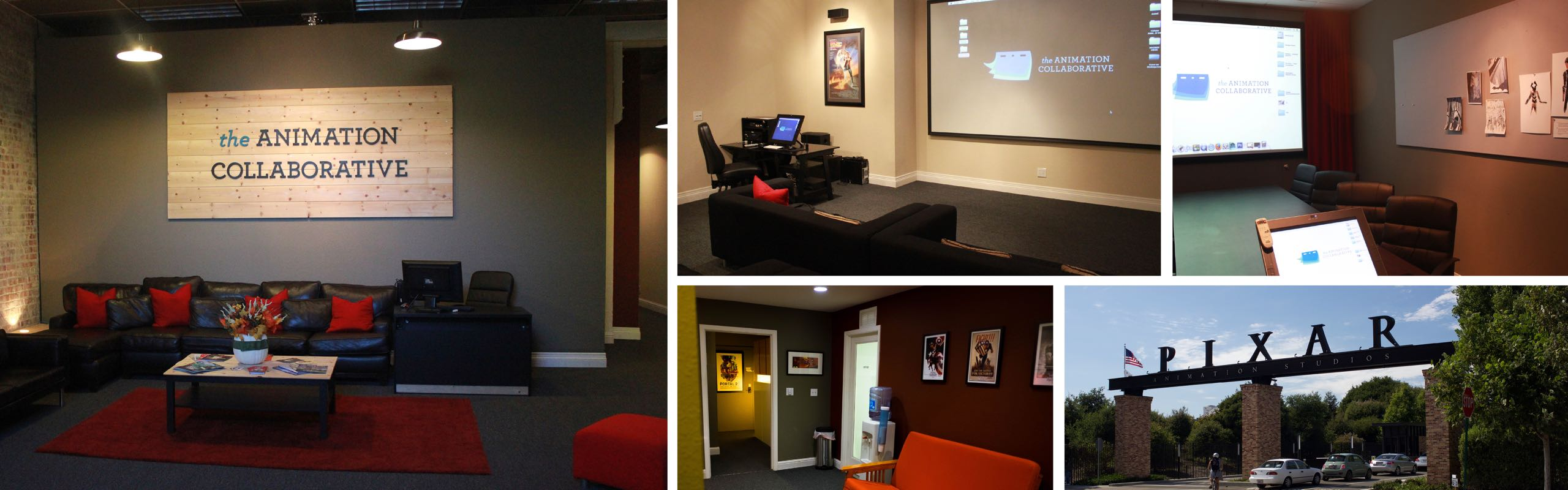 Pictures of the interior of the Animation Collaborative