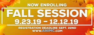 Fall Session Registration Deadline Sept. 22nd